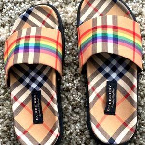 Burberry  Rainbow Slides